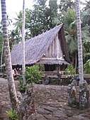 Traditional house in Micronesia