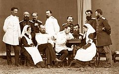 Yermakov. Russian medical officers and sisters of charity, 1877-1878.JPG