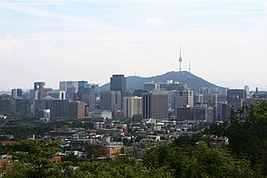 China–Japan–South Korea trilateral summit - Jongno financial center of Seoul.