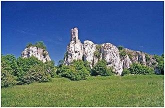Pálava Protected Landscape Area - Image: Zřícenina Sirotčí hrádek