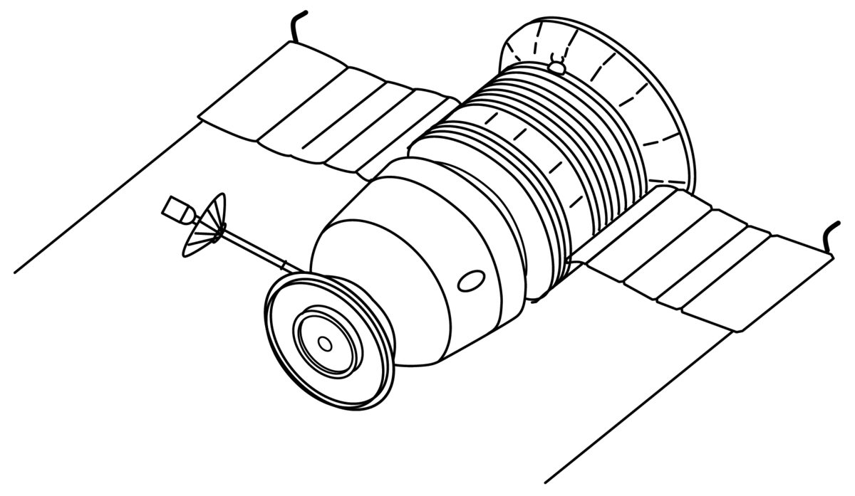 spacecraft drawing - photo #3