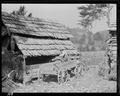 """View of the barnyard of the McHaffie homestead at Powell Station, Route ^1, Knox County, Tennessee. Note the... - NARA - 532628.tif"