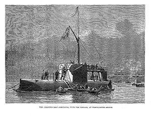 Cleopatra (cylinder ship) - Image: 'Cylindar ship Cleopatra at Westminster Bridge' Wellcome L0022195