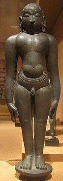 'Tirthankara', India, Mysore, Karnataka, 10th-11th century, bronze with silver content, Honolulu Academy of Arts