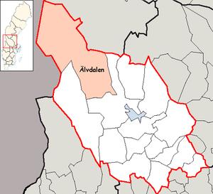 Älvdalen Municipality - Image: Älvdalen Municipality in Dalarna County