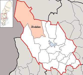 Elfdalian - Image: Älvdalen Municipality in Dalarna County