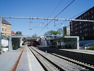 Ålholm station - Image: Ålholm St. N