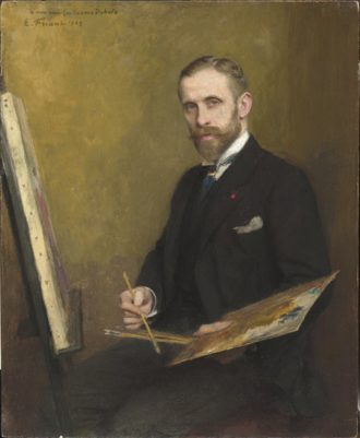 Guillaume Dubufe - Guillaume Dubufe; portrait by Émile Friant (1905)
