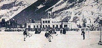 Ice hockey at the 1924 Winter Olympics - Match between France and the United States