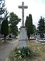 Őrangyal Cemetery, Cross (1889), 2019 Csorna.jpg