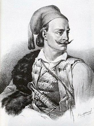 Kitsos Tzavelas - Kitsos Tzavelas, portrait by Karl Krazeisen