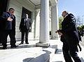Συνάντηση Αντιπροέδρου της Κυβέρνησης και ΥΠΕΞ Ευ. Βενιζέλου με ΥΠΕΞ Ισραήλ A.Liberman (13286208545).jpg
