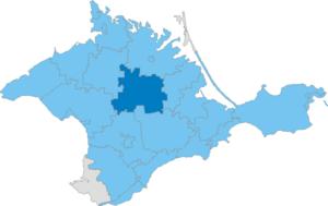 Krasnohvardiiske Raion - Image: Карта схема Крыма Красногвардейский район