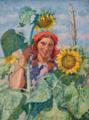 Машков И. И., Девушка с подсолнухами. Портрет Зои Андреевой. 1930г.png