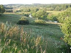 Долина реки осётр в районе зарайска