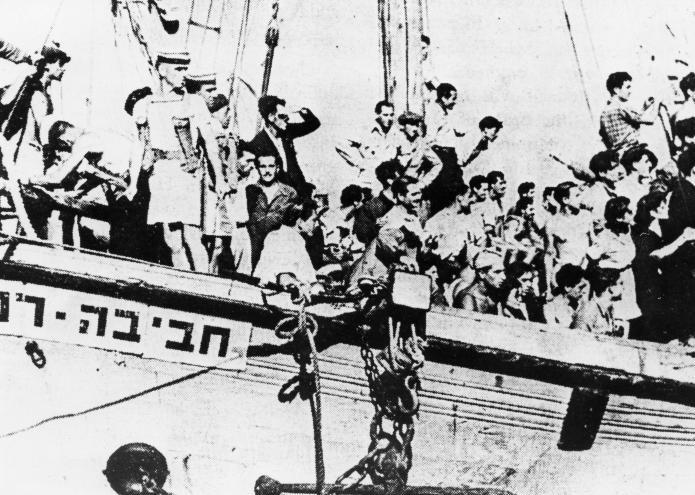 אוניית המעפילים חביבה רייק - כוחות בריטים בסיפון