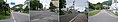 北海道道675号立待岬函館停車場線・市道日暮し通交点(終点側より、左から高田屋通・市道日暮し通・ホテル函館山裏手・函館山登山道の各起点方向を見る).jpg