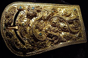 History of Korea - Gold buckle of the Proto–Three Kingdoms period