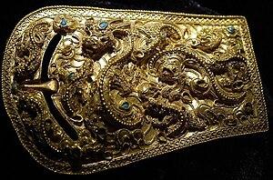History of Korea - Gold buckle of the Proto–Three Kingdoms period