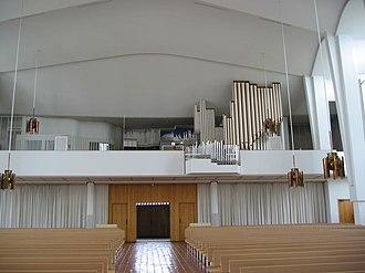 Lakeuden Risti Church - Image: 006 Lakeuden Risti urkuparvi