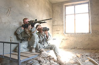 M24 Sniper Weapon System - U.S. Army sniper team with the M24 SWS.