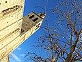 070 Monestir de Sant Cugat del Vallès, campanar, façana sud.JPG