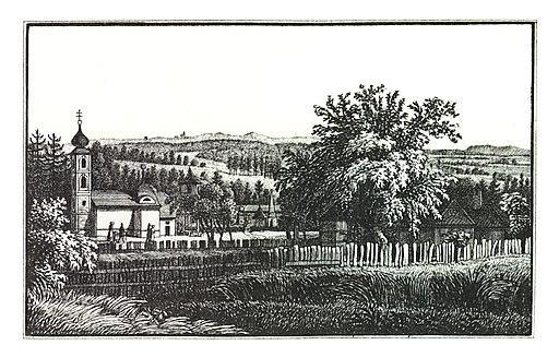 089 Maria Grün bei Graz - J.F.Kaiser Lithografirte Ansichten der Steiermark 1830