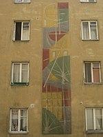 1170 Kastnergasse 28-30 - Sgraffito Abstrakte Elemente von Isolde Jurina 1956 IMG 4557.jpg