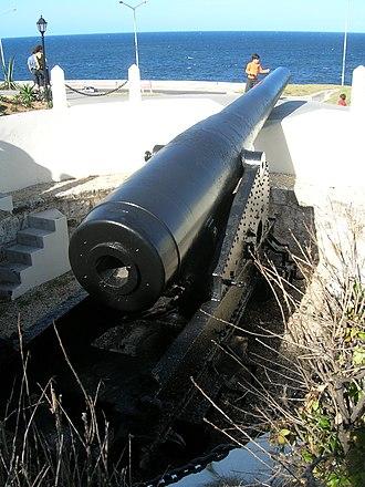 """Ordóñez guns - 305mm (12"""") Ordóñez rifle at the Santa Clara Battery, Havana"""