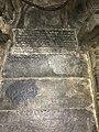 12th-century Devanagari and old Kannada inscription inside Shaivism Hindu temple Hoysaleswara arts Halebidu Karnataka India.jpg