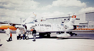 107th Attack Wing - 136th Fighter-Interceptor Squadron - North American F-86H- Sabre 53-1355.jpg about 1957