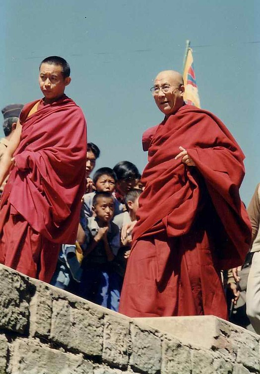 Dalai Lama at Tibetan Children's Village Dharamsala, 1993 14th Dalai Lama.jpg