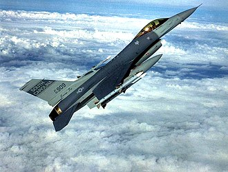 169th Fighter Wing - 157th Fighter Squadron Lockheed F-16C Block 52P Fighting Falcon 92-3909 equipped with 4x AIM-120 AMRAAM missiles.