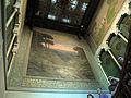 167 Casa Alegre de Sagrera (Terrassa), caixa d'escala, amb mural de Joaquim Vancells.JPG
