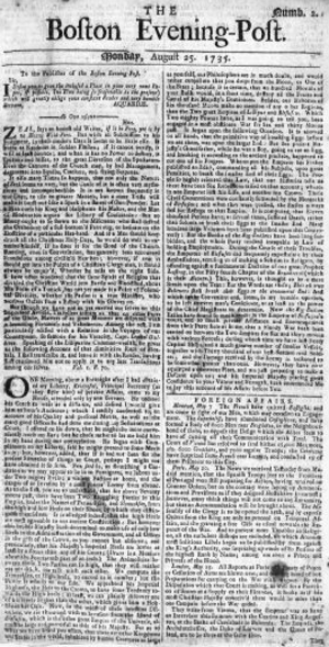Boston Evening-Post - Boston Evening-Post, 1735