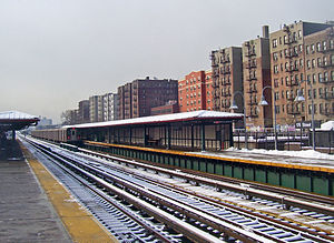 176th Street (IRT Jerome Avenue Line) - View south from northbound platform