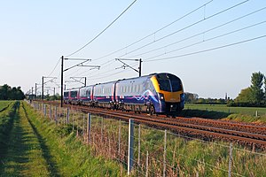 British Rail Class 180 - First Hull Trains 180113 passes Cromwell Moor