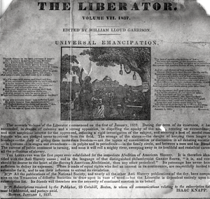 The Liberator (newspaper) - An issue of The Liberator depicting African Americans next to a lynching tree.