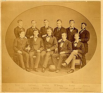 1873 Yale Bulldogs football team - Image: 1873 Yale Bulldogs (team picture)