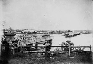 1893 Brisbane flood - Indooroopilly Railway Bridge