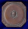 1899 early Art Nouveau University Medal TH Berlin, 100th Anniversary, today Technische Universität, obverse.jpg