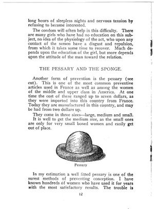 Margaret Sanger - This page from Sanger's Family Limitation, 1917 edition, describes a cervical cap