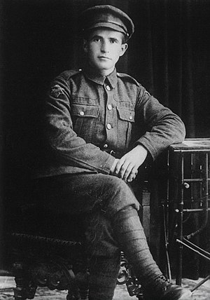 Fort Edward (Nova Scotia) - David Ben-Gurion, future prime minister of Israel, in his Jewish Legion uniform, 1918