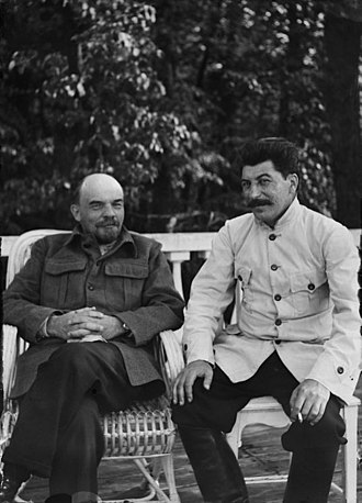 Economy of the Soviet Union - Image: 19220900 lenin stalin gorky 02