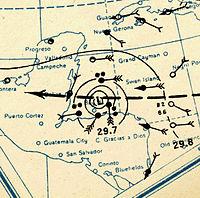 1931 Belize hurricane analysis 10 Sep (MWR).jpg
