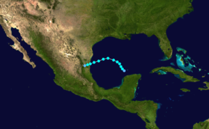 1936 Atlantic hurricane season - Image: 1936 Atlantic tropical storm 2 track