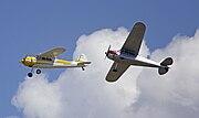 1953 Cessna 195B (VH-VLD) and 1948 Cessna 190 (VH-AAL) at Temora
