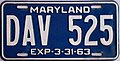 1962-63 Maryland license plate.jpg