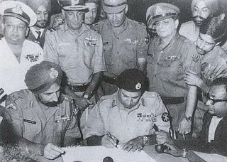Indo-Pakistani War of 1971 Military confrontation between India and Pakistan alongside the Bangladesh Liberation War