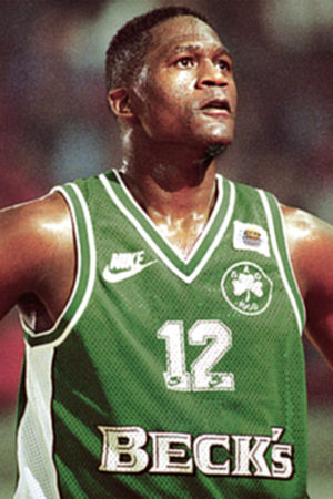 Dominique Wilkins - Wilkins with Panathinaikos at the EuroLeague Final Four semifinal on April 9, 1996.